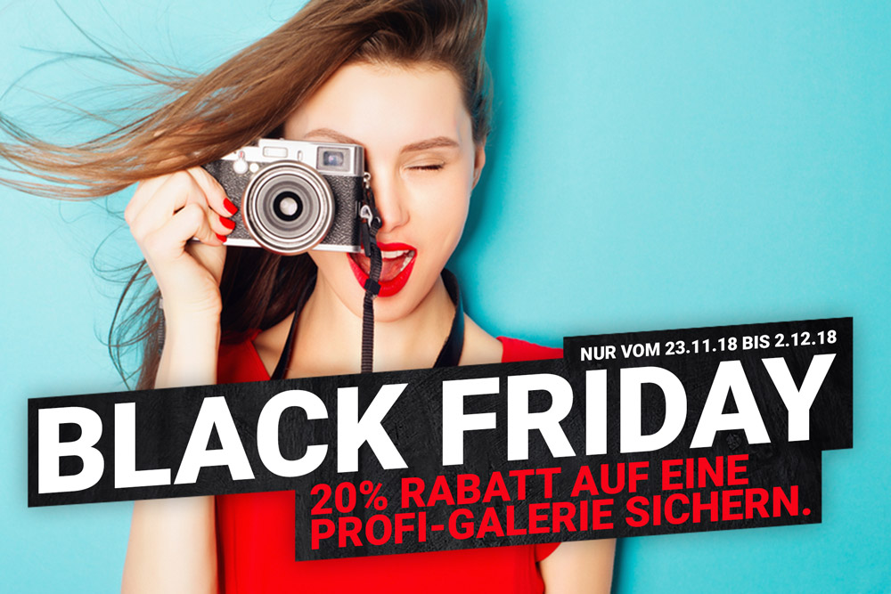 BLACK FRIDAY-SALE +++ 20% RABATT AUF PROFI-GALERIE SICHERN